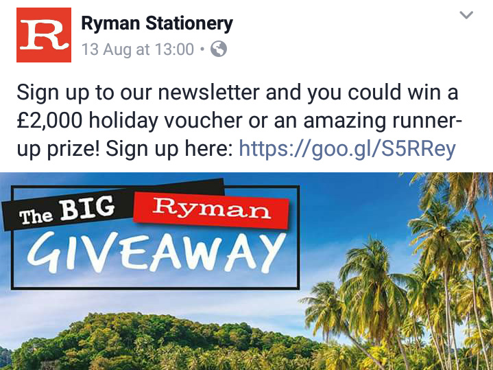 Great prizes up for Grabs at Ryman here in Leigh