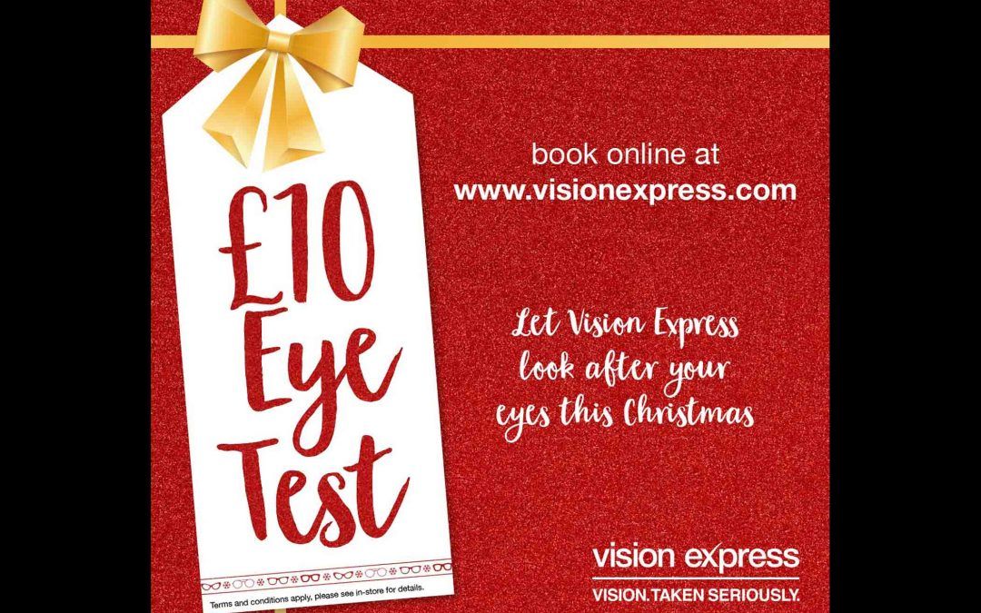 £10 Eye Tests with Vision Express