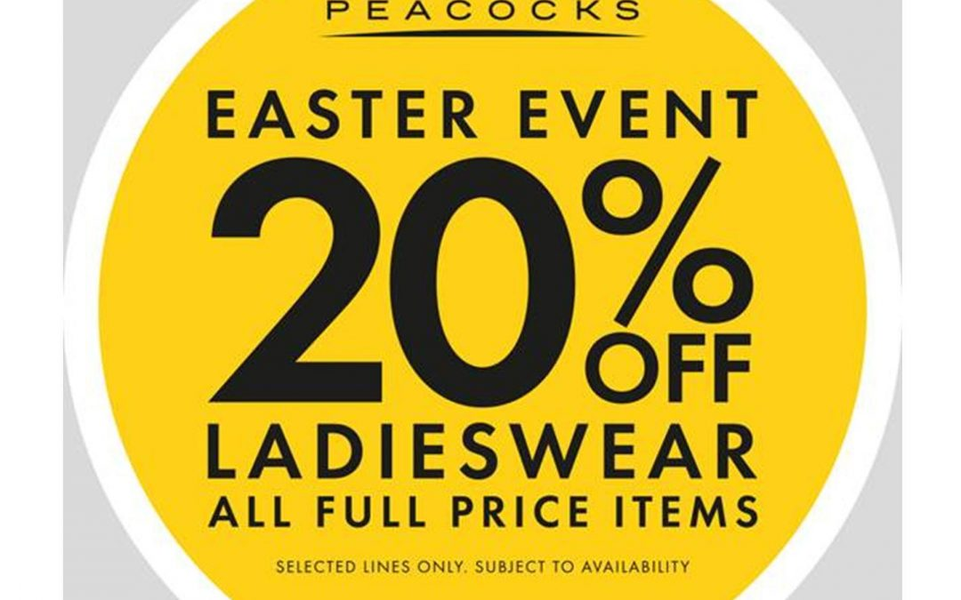 Peacocks – Up to 20% Off Ladieswear