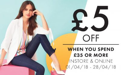 Peacocks – Get £5 OFF when you spend £35