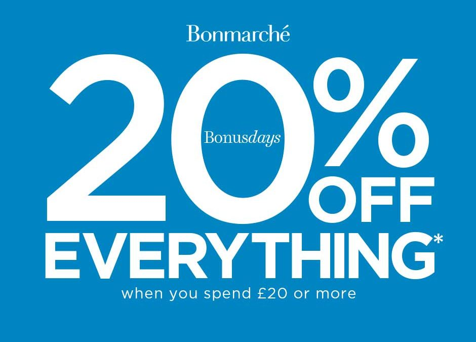 Get 20% off everything at Bonmarché
