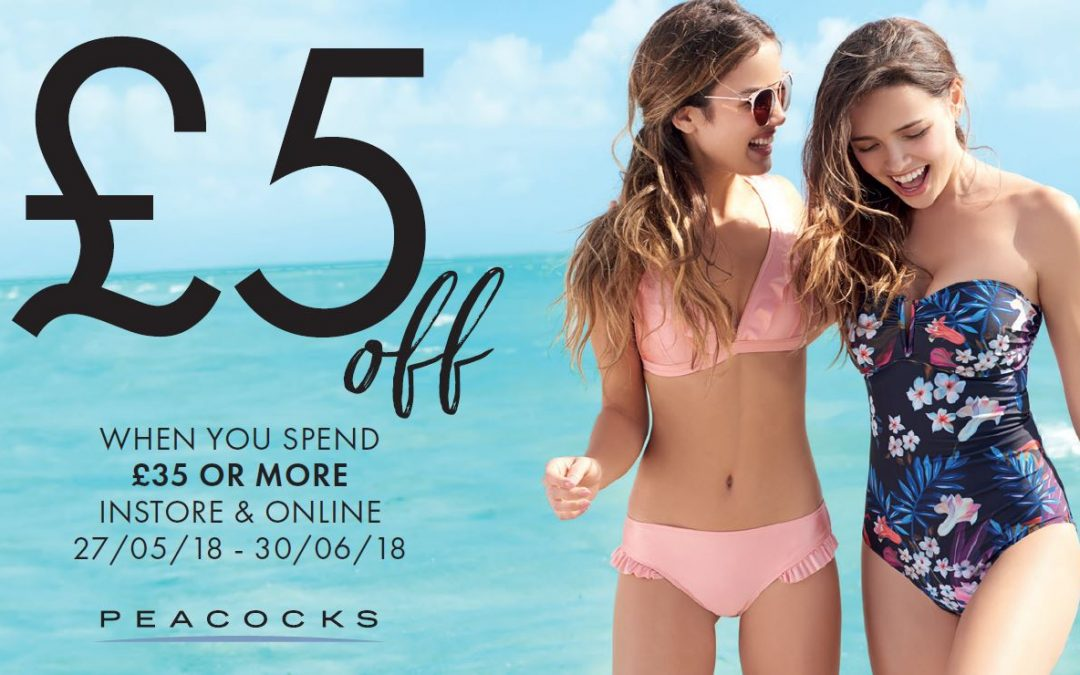 Get £5 off when you spend £35 at Peacocks