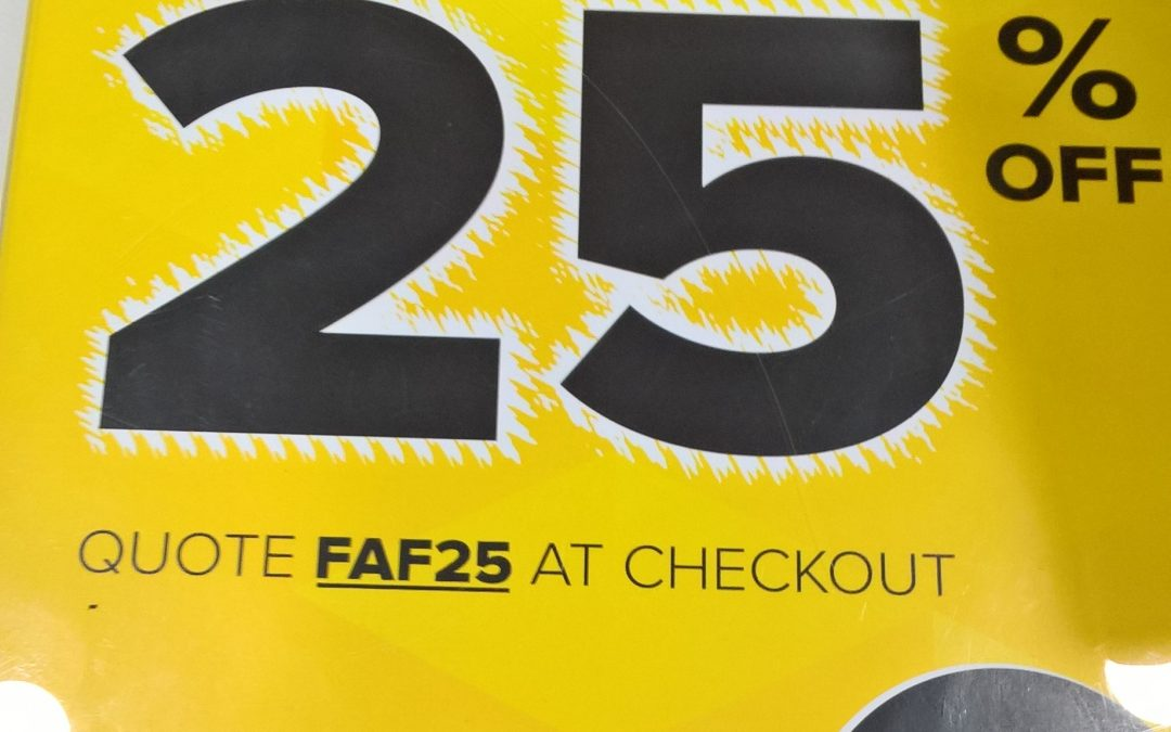 25% OFF at Select Fashion