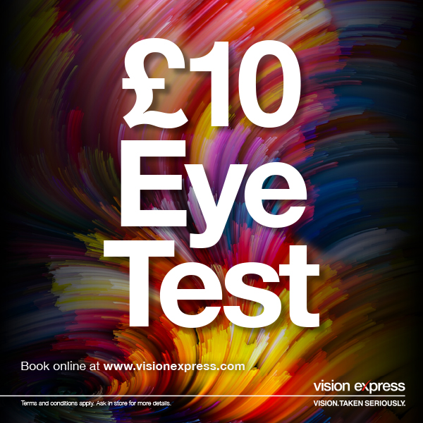 £10 Eye Test at Vision Express