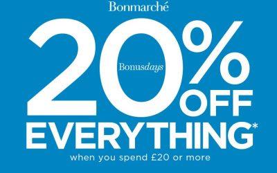 20% off at Bonmarche