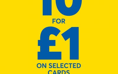 10 Cards for £1 at Card Factory
