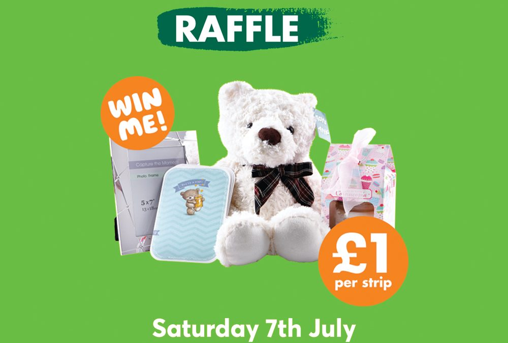 Raffle in-store at Card Factory for Macmillan Cancer Support