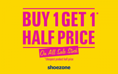 Buy One Get One Half Price at ShoeZone