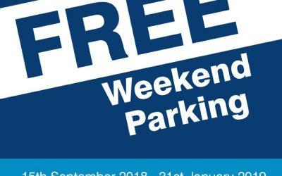FREE Weekend Car Parking on Spinning Gate Shopper Car Park