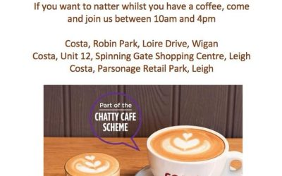 Chatter & Natter Table at Costa Coffee