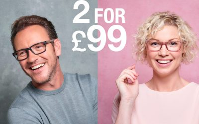 2 pairs of glasses for £99 at Vision Express