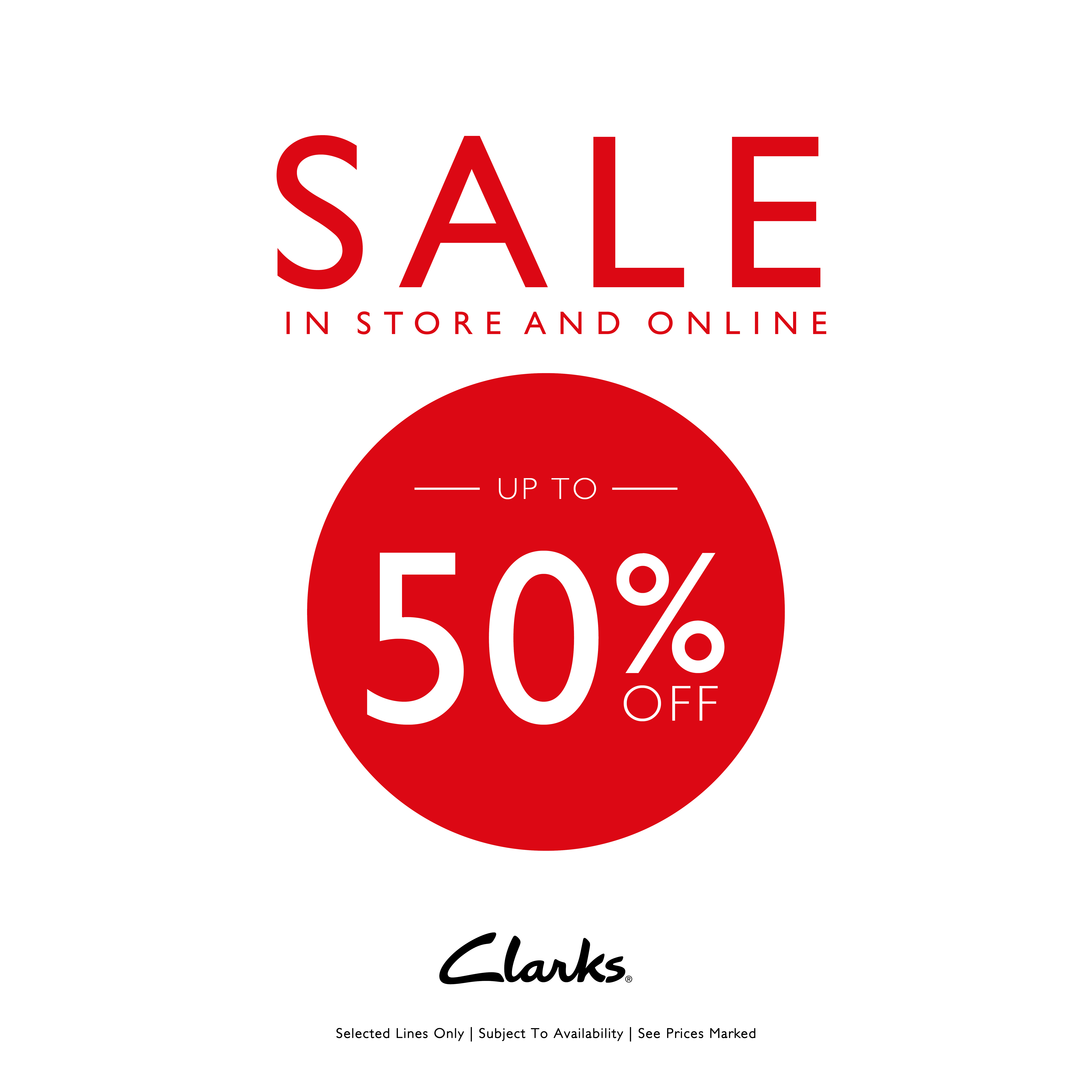 Mid Season Sale at Clarks Shoes