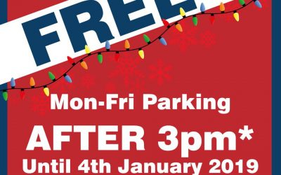 Free Weekday Parking on Entry after 3pm