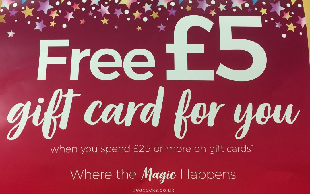 Free £5 Gift Card at Peacocks
