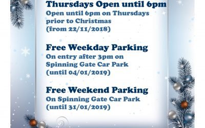 Christmas Opening Hours at Spinning Gate