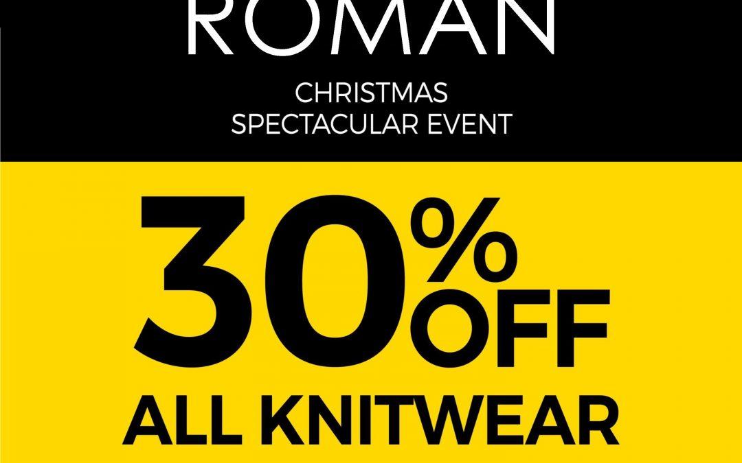 30% off Knitwear at Roman
