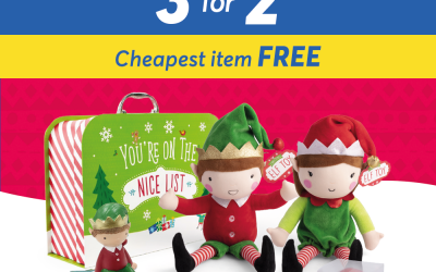 3 for 2 Selected Elf products at Card Factory