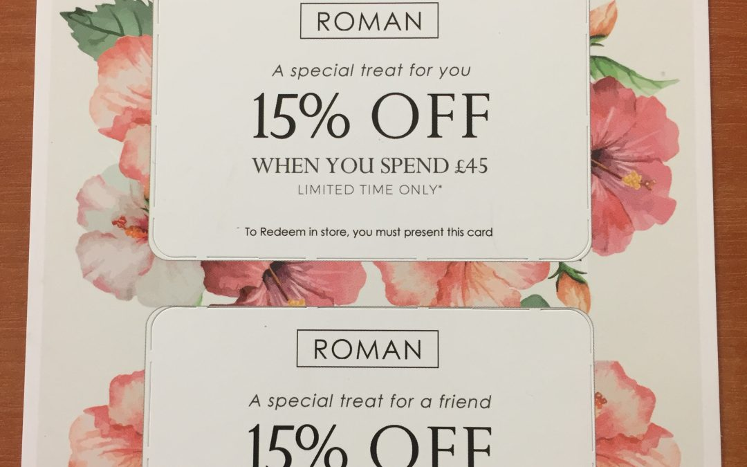VIP Shopper Card at Roman
