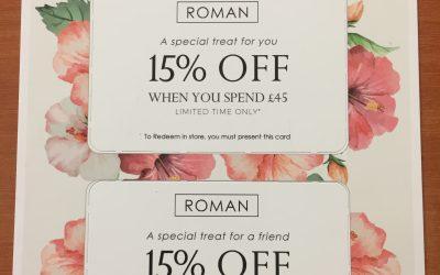 VIP Shopper Card at Roman