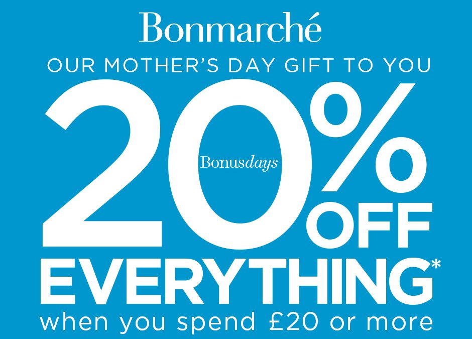 Bonmarche – 20% off Everything