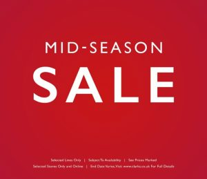 Mid Season sale now on at Clarks Shoes