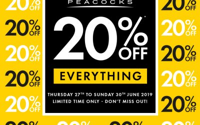 Peacocks – 20% off Everything