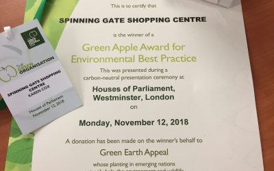 Spinning Gate wins 2nd Green Apple Environmental Award