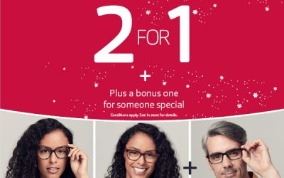 2 for 1 offer at Vision Express