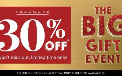 30% off Gifts at Peacocks