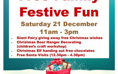 Free Family Festive Fun – Saturday 21 December