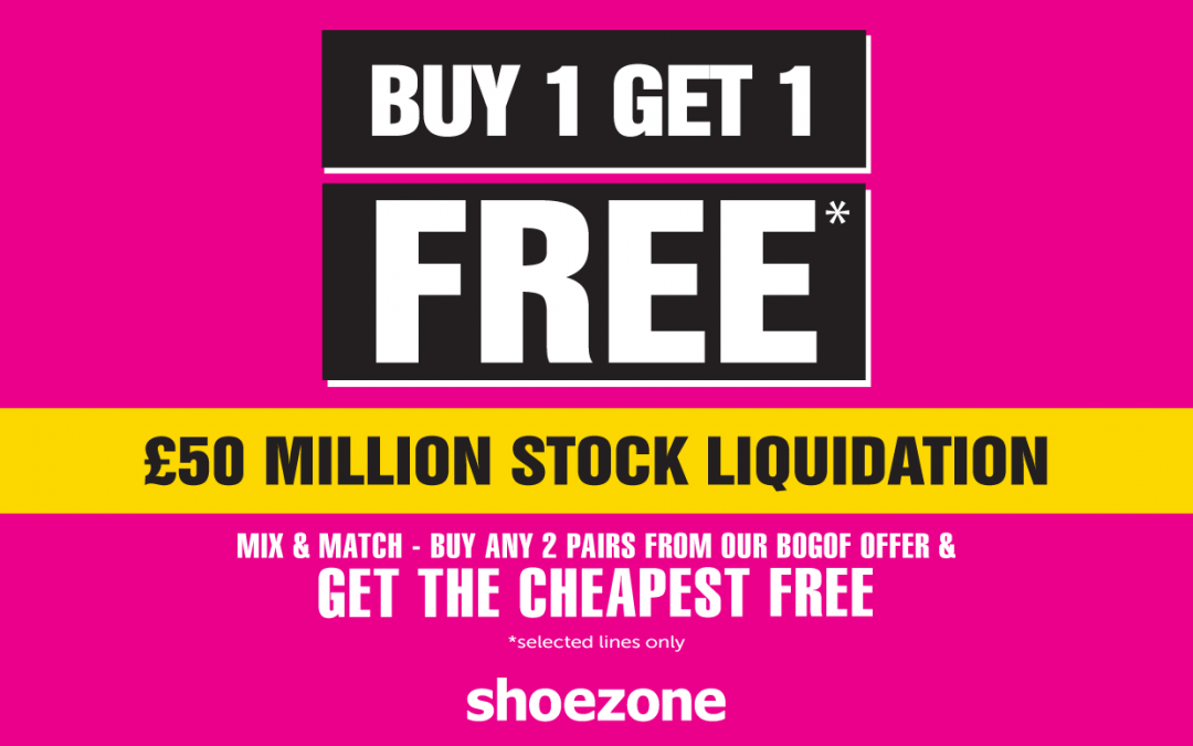 Buy 1, Get 1 FREE at ShoeZone
