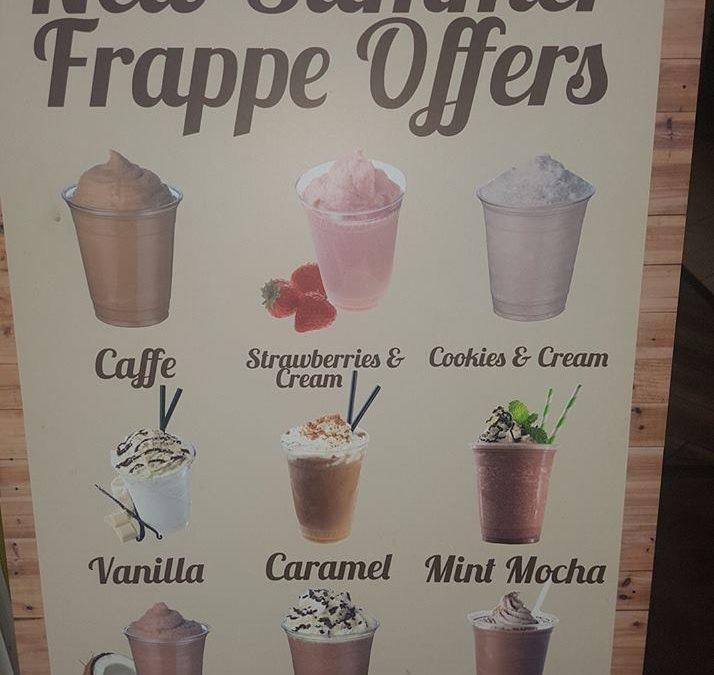 Summer frappe menu is back at Caffe Dolce