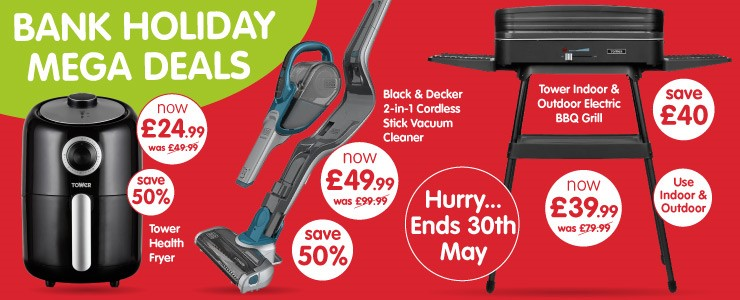 Bank Holiday Electrical Deals at B&M Bargains