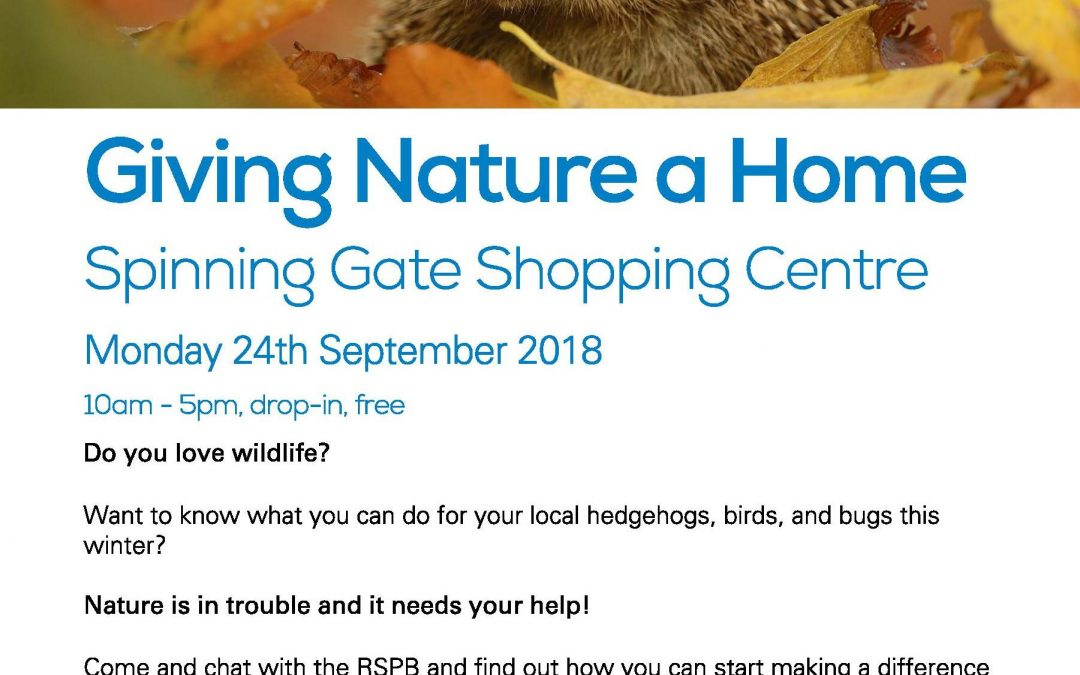 RSPB Giving Nature a Home Information Event