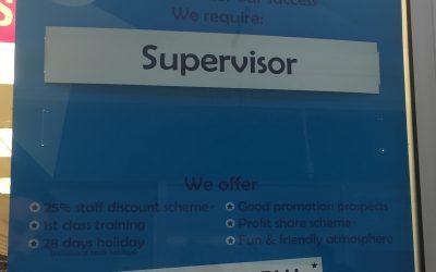 Vacancy – Supervisor Vacancy at Shoe Zone