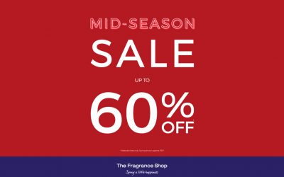 Mid Season Sale now on at The Fragrance Shop