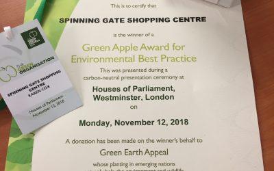 Spinning Gate wins 2nd Green Apple Environmental Award