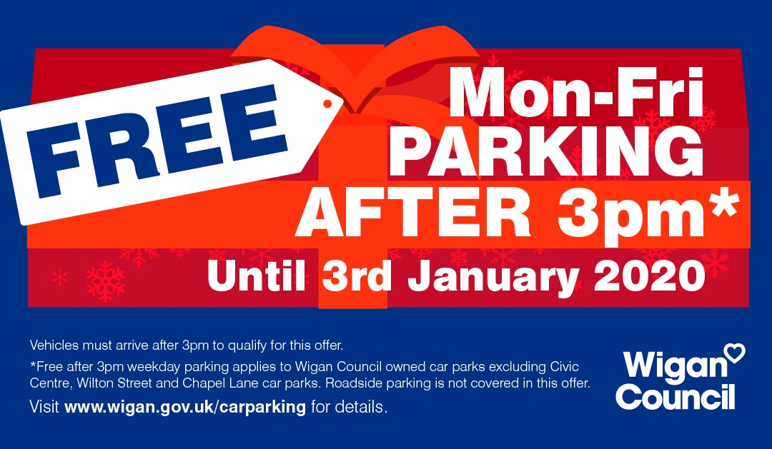 Free Weekday Parking – on Entry after 3pm