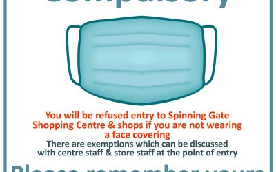 Face Masks Compulsory in Centre & in our Stores